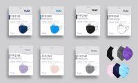YUXI FFP2 Maske Erwachsene farbig