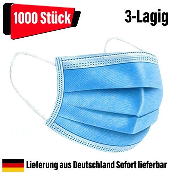 OP Masken 1000 Stück blau 3-lagig