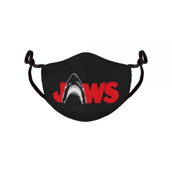 Der weisse Hai Stoffmaske schwarz wiederverwendbar