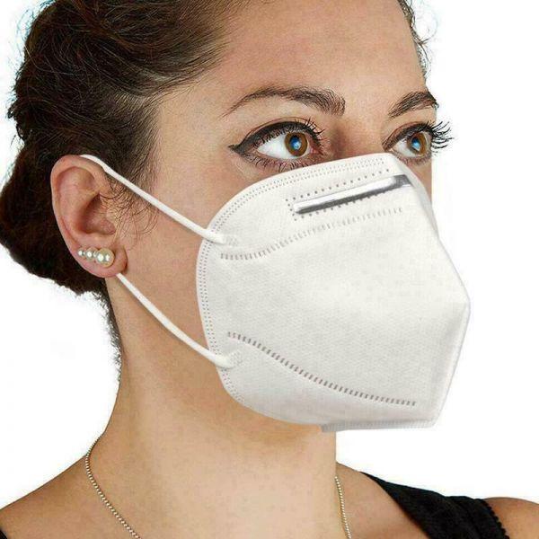 Mund Nasenbedeckung weiß 2er Sparset