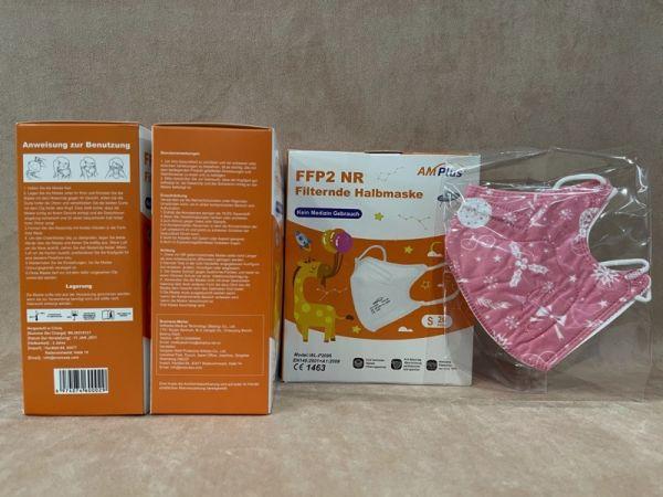 Kinder FFP2 Maske mit Motiv für Mädchen rosa